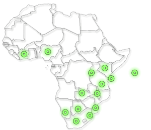 Map of Africa - Hospitality Jobs in Africa